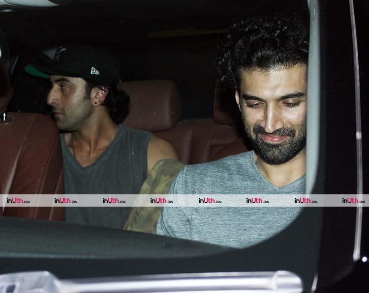 Ranbir Kapoor on his way to Karan Johar's house
