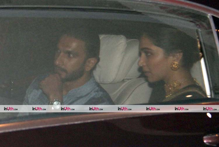 Ranveer Singh and Deepika Padukone share a ride