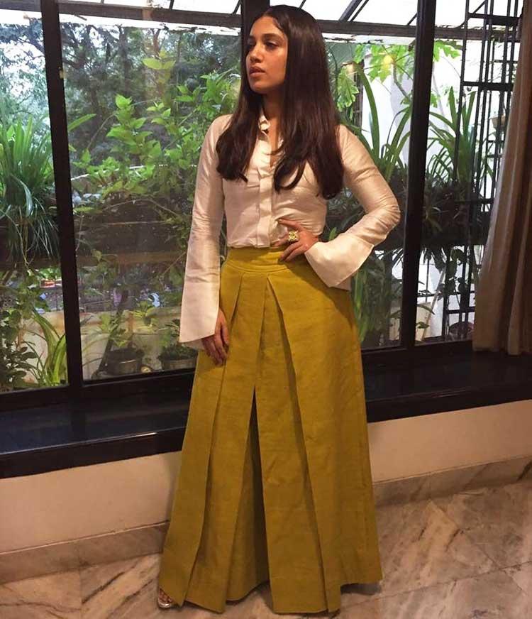 Bhumi Pednekar styled in Payal Khandwala for Toilet: Ek Prem Katha promotions