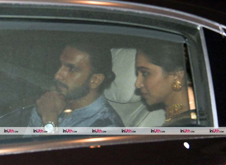 Ranveer Singh and Deepika Padukone spotted after Ambani's party