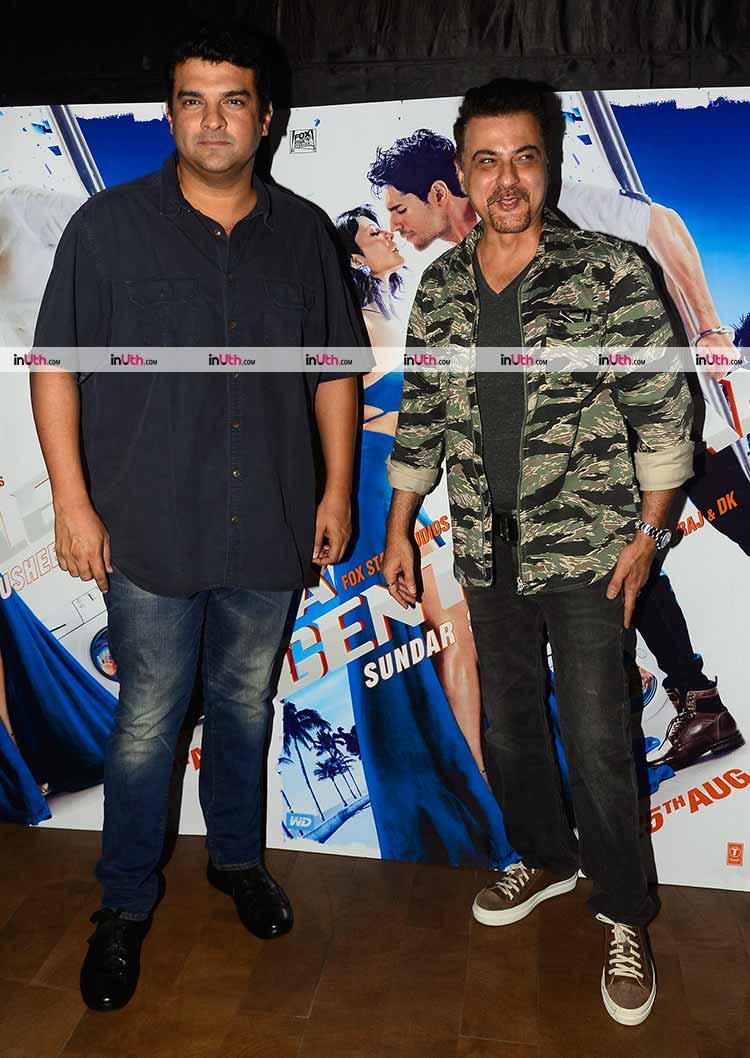 Siddharth Roy Kapur and Sanjay Kapoor at A Gentleman screening