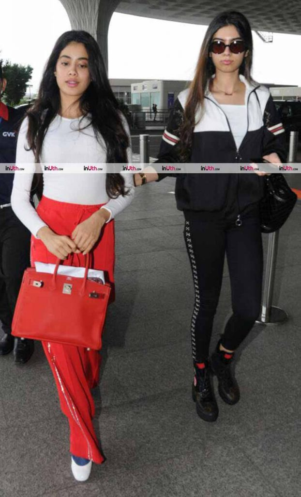 Khushi Kapoor flaunting the sexiest airport style