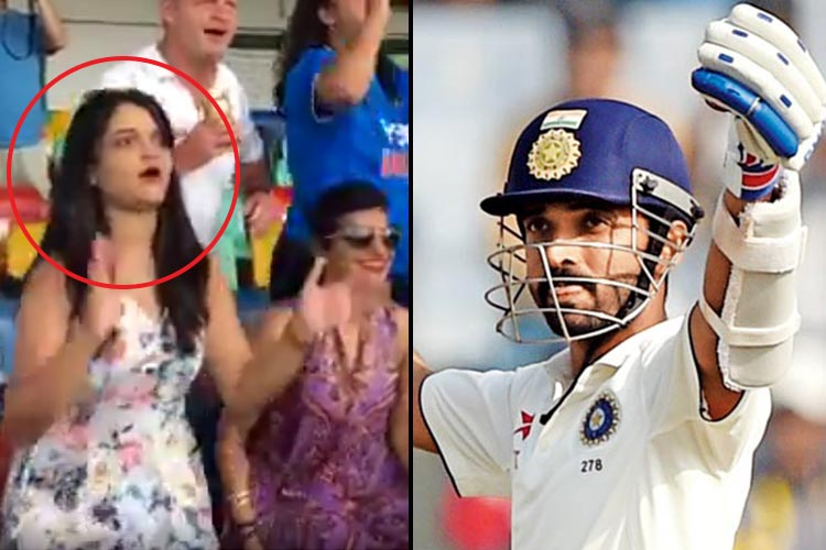 Ajinkya Rahane hits a century in Tests after 17 innings and his wife's reaction from the stands is priceless | WatchVideo