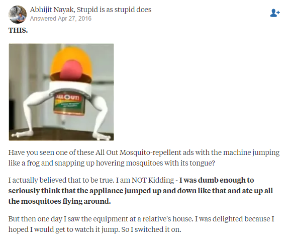Quora dumbest thing you believed to be true as a child