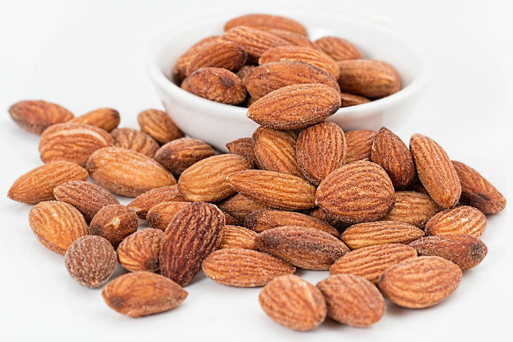 Almonds, food