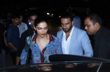 Deepika Padukone and Ranveer Singh's dinner date images