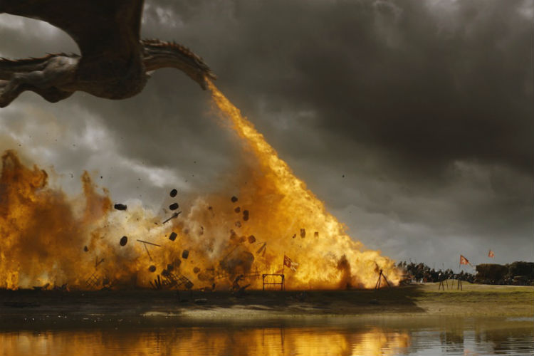 Game of Thrones. Season 7. Drogon. Fire