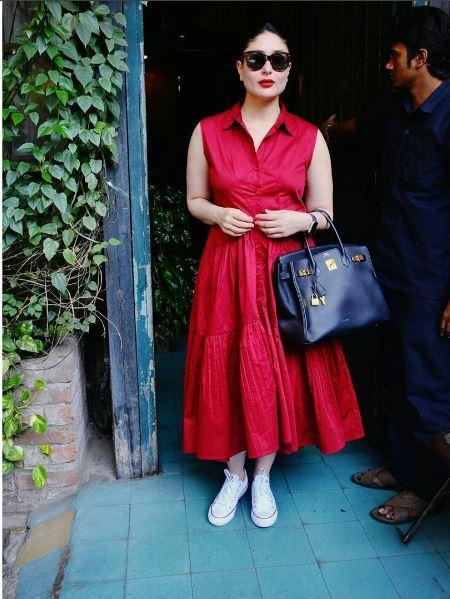 Kareena Kapoor with her Hermes Birkin Epsom