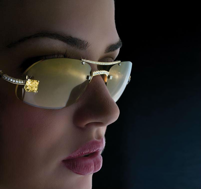 Luxuriator Canary Diamond Glasses-1