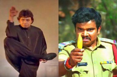 Funny fight scenes, worst fight scenes, Bollywood, Telugu movie fight scenes, Rajnikanth, Mithun
