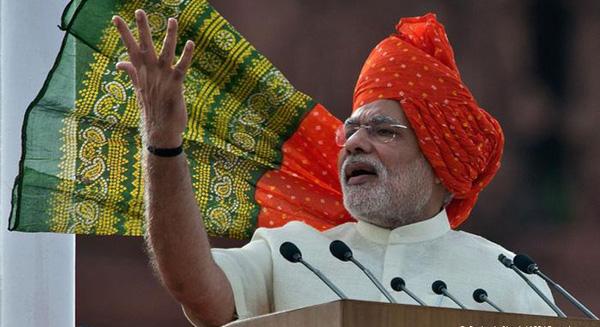 PM Modi 2014 I-day