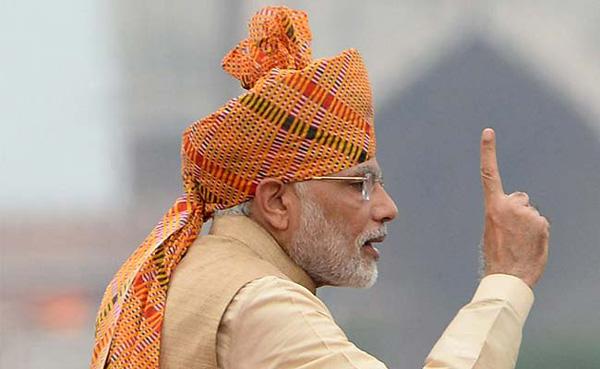 PM Modi 2015 I-day