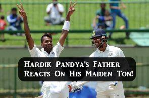 Hardik Pandya century, Hardik Pandya's father reacts