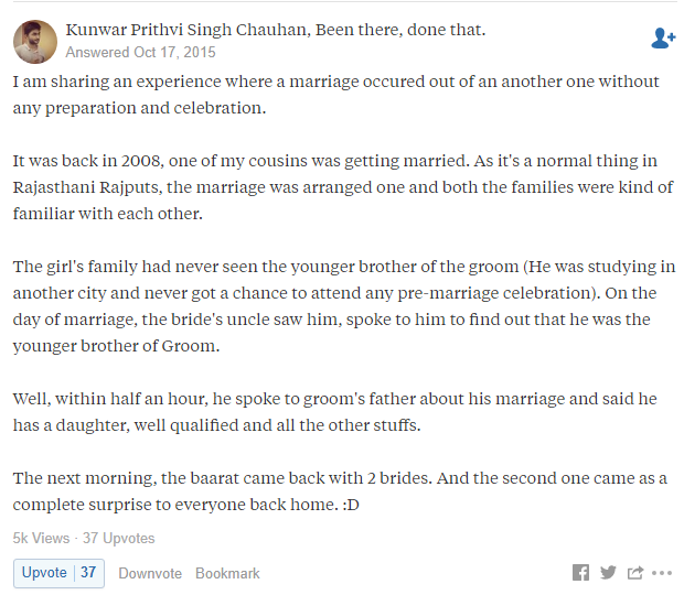Quora arranged marriage