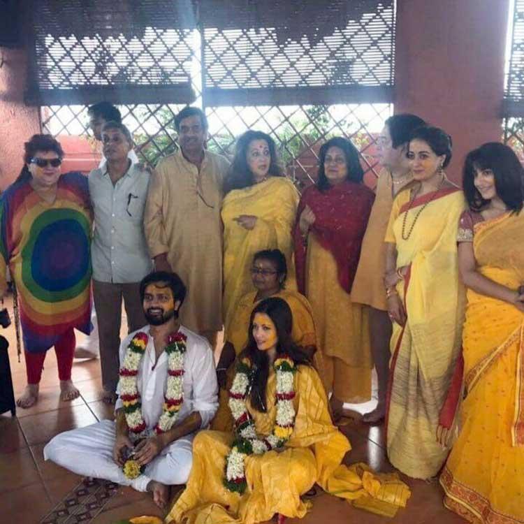 Riya Sen's Haldi ceremony