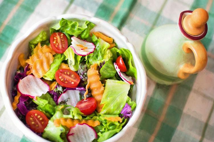 Salad, healthy snacks