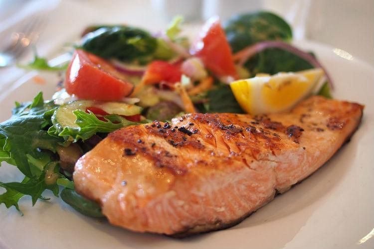 Salmon, food
