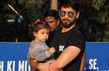 Shahid Kapoor, Mira Rajput spotted on airport with Misha