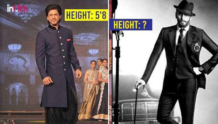 Shah Rukh Khan to Ranveer Singh: Here's how tall your favourite Bollywood actors are