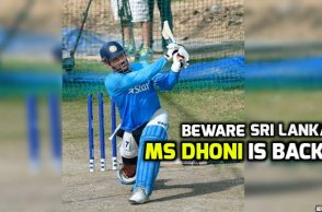 MS Dhoni is back with Team India