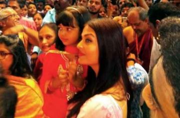 Ganesh Chaturthi 2017: Aishwarya Rai and Aaradhya visit Ganpati Pandal photo