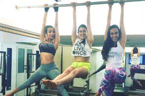 Sara Ali Khan working out with Malaika Arora