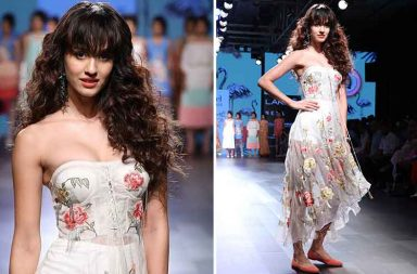 Disha Patani walks the ramp at Lakme Fashion Week 2017 photo