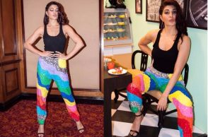 Jacqueline Fernandez during the promotion of A Gentleman