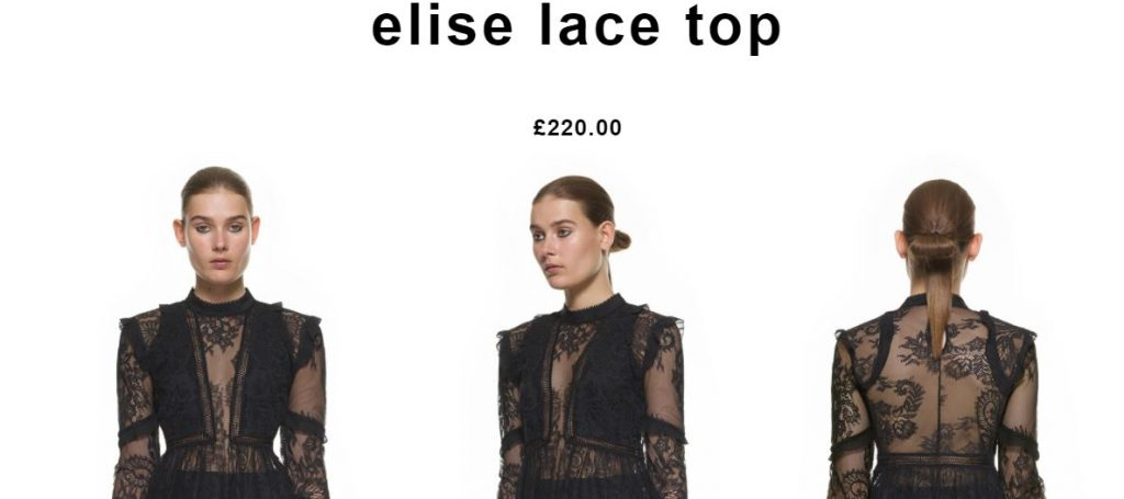 Elise lace top from Self Portrait
