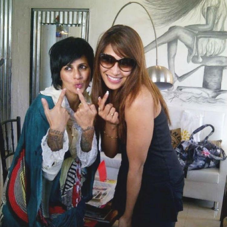 Sapna Bhavnani with Bipasha Basu
