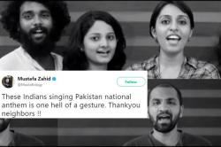 Indians sing Pakistani national anthem as a gift for their Independence Day - Watch Video