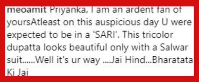 Comment on Priyanka Chopra's photo