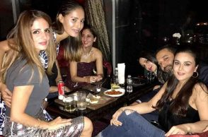 Preity Zinta and Sussanne Khan party pics