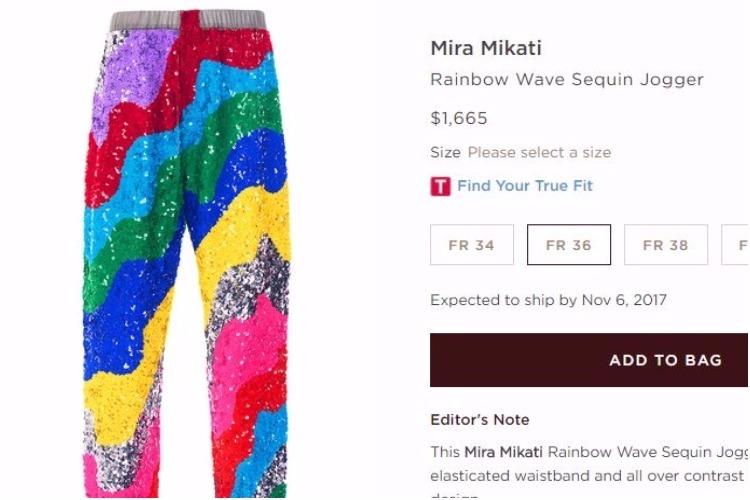 Rainbow jogger from Mira Mikati
