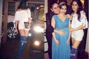 Sara Ali Khan in thigh-high denim boots