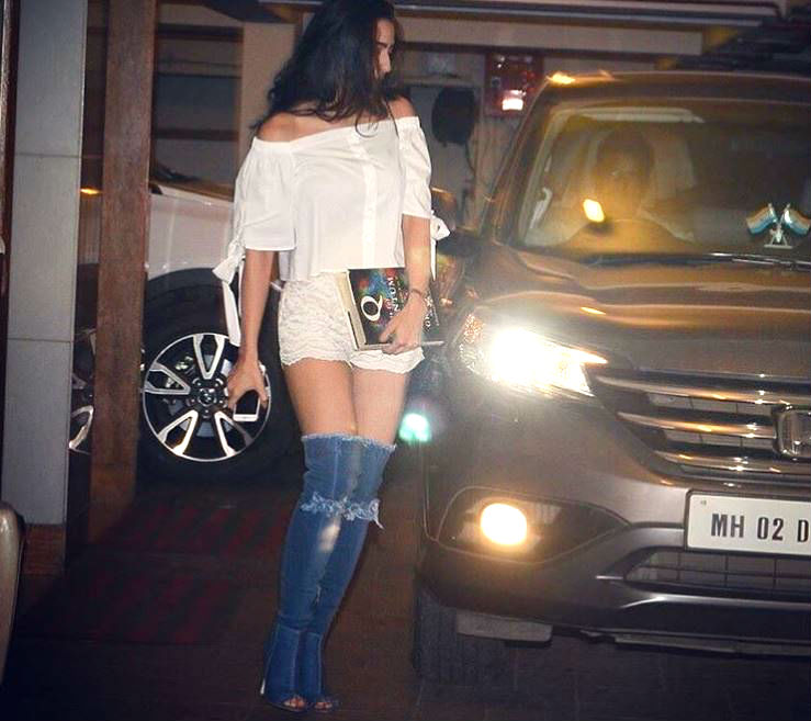 Sara Ali Khan in thigh-high denim boots