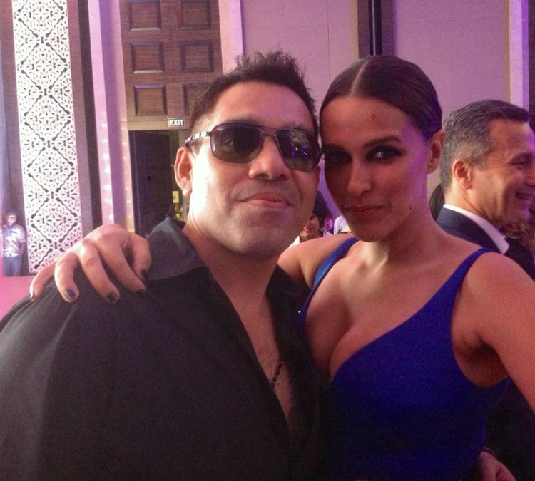 Savio John Pereira with Neha Dhupia