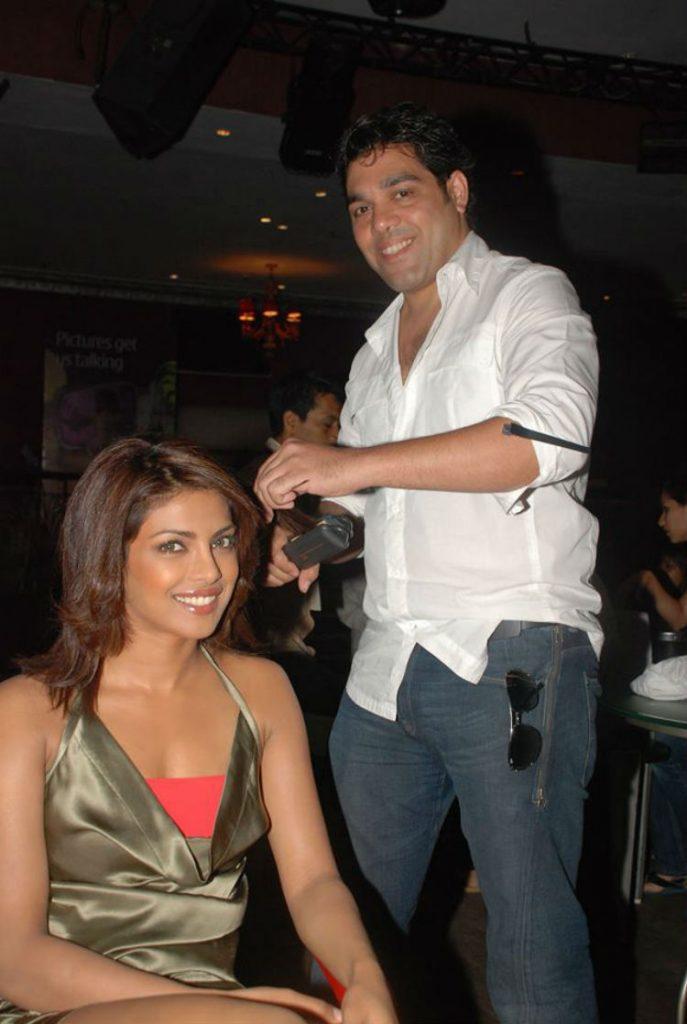 Savio John Pereira with Priyanka Chopra