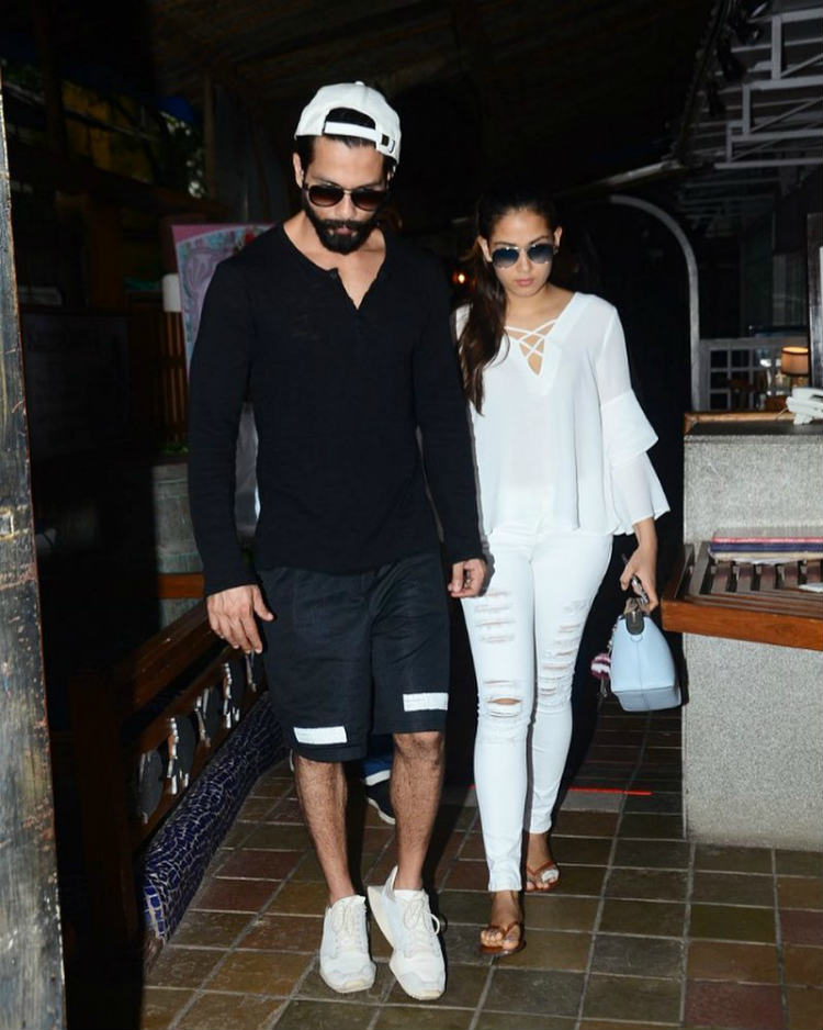 Shahid Kapoor with wife Mira Rajput