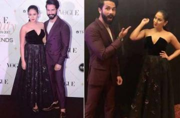 Shahid Kapoor, Mira Rajput at Vogue Beauty Awards 2017 photo