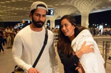 Shahid Kapoor, Mira Rajput spotted on airport with Misha