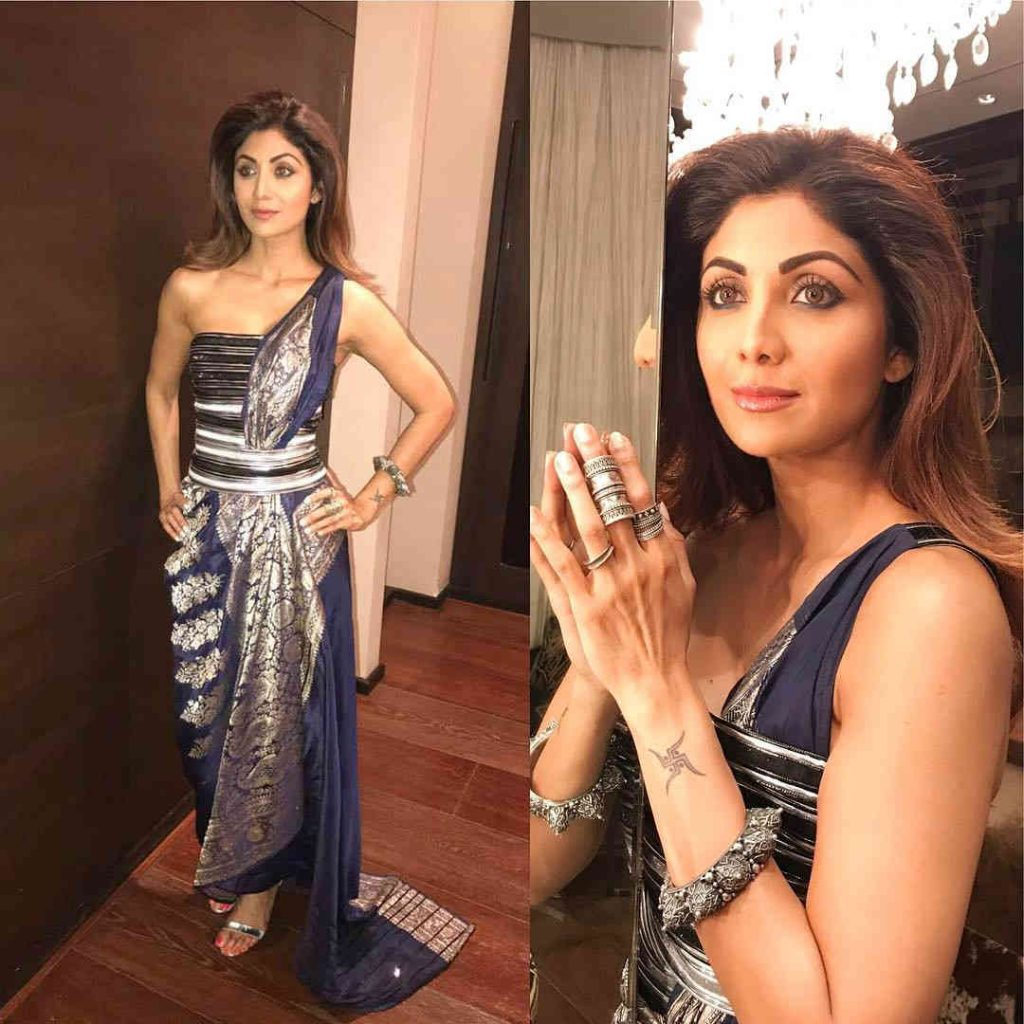 Shilpa Shetty in Amit Aggarwal couture