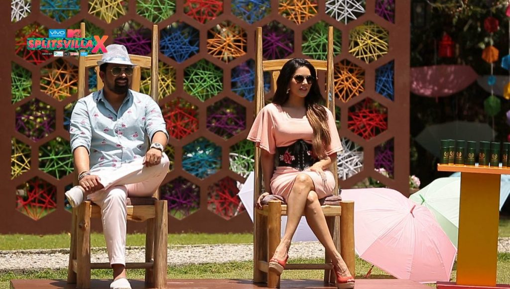 Sunny Leone and Rannvijay Singh in Splitsvilla 10