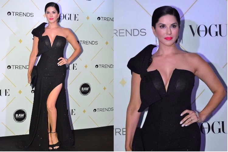 Sunny Leone spent just 10 notes to get this sexy black dress. It's totally affordable