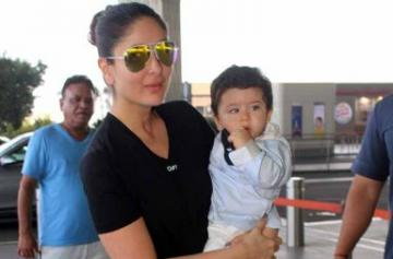 Kareena Kapoor leaves for Veere Di Wedding with Taimur