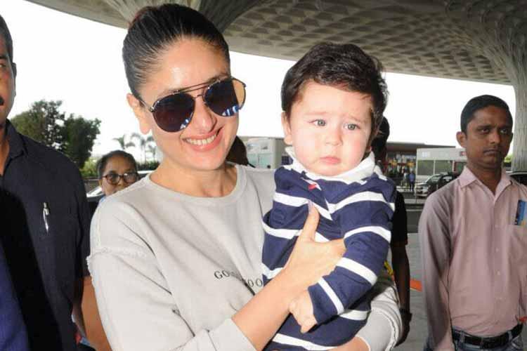 Kareena Kapoor leaves for Veere Di Wedding with Taimur