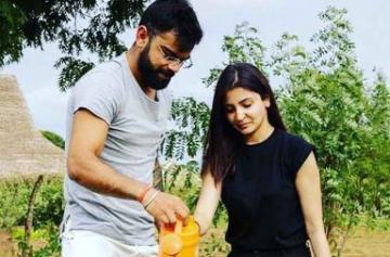 Virat Kohli and Anushka Sharma go green in Sri Lanka photo