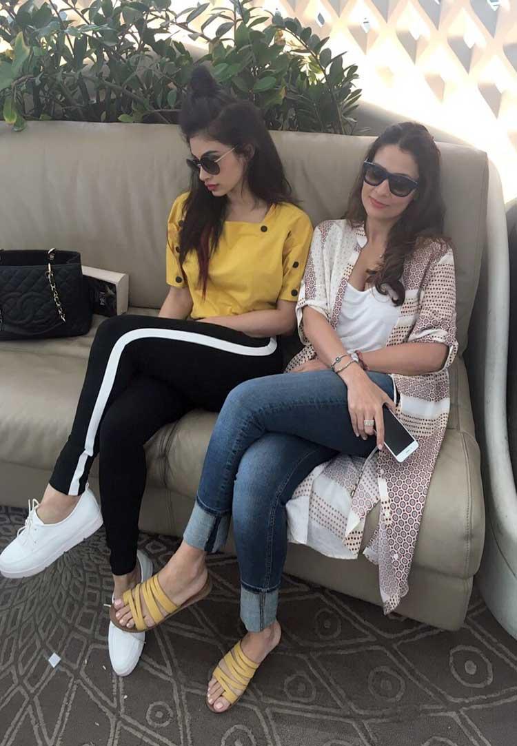 Mouni Roy with her friend Roopali Kadyan