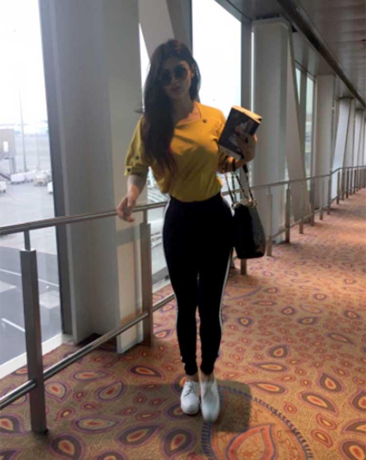 Mouni Roy has taken her love for books along to Sri Lanka