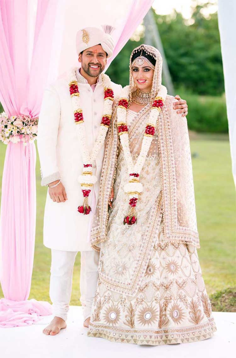 Aftab Shivdasani with wife Nin Dusanj after their wedding